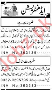 Administration Staff Jobs 2019 in Peshawar