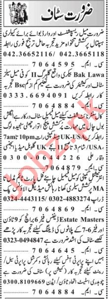 Daily Jang Miscellaneous Staff Jobs 2019 in
