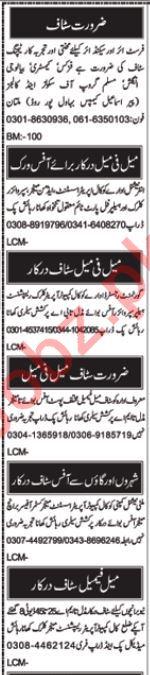 Teaching Staff Jobs 2019 in Multan