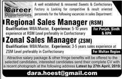 Sales Manager Job in Karachi