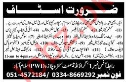 Project Staff Jobs 2019 in Rawalpindi, Islamabad & Peshawar