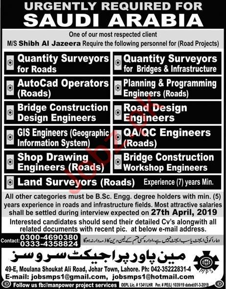 Quality Surveyor & Auto CAD Operator Job in Saudi Arabia