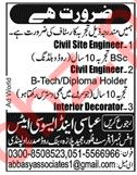 Engineers & Interior Decorator Jobs 2019 in Rawalpindi