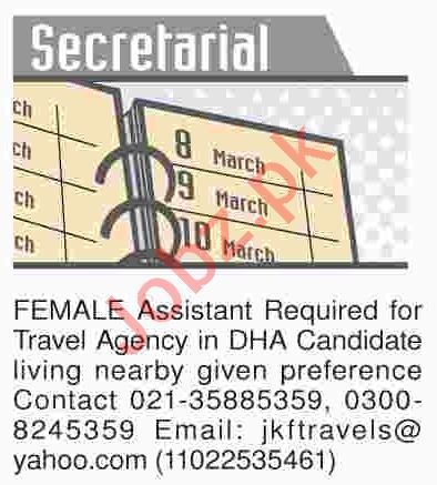 Dawn Sunday Classified Ads 21th April 2019 for Secretarial