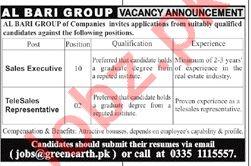 Al Bari Group of Companies Sales Jobs 2019 in Rawalpindi