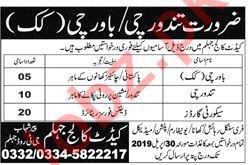 Pak Army Cadet College Jhelum Jobs 2019