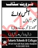 Askaria Schools & Colleges Job 2019 in Rawalpindi