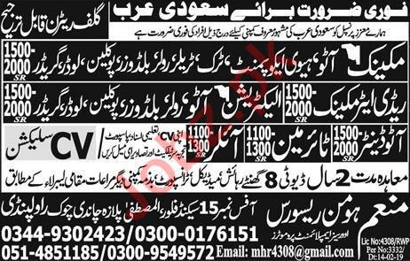 Radiator Mechanic & Electrician Job in Saudi Arabia