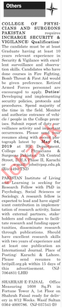 The News Sunday Classified Ads 21st April 2019 for Multiple