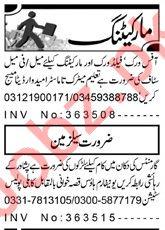Sales & Marketing Staff Jobs 2019 in Peshawar