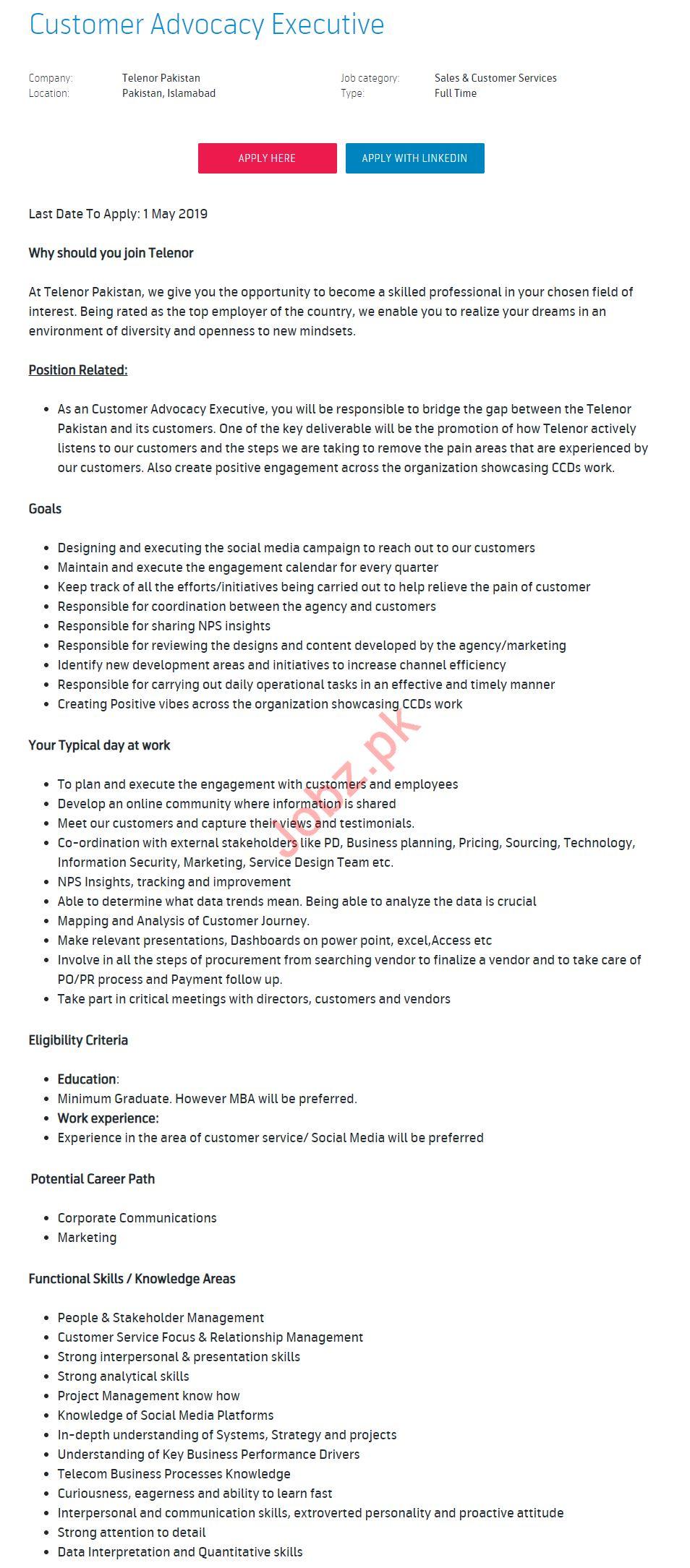 Customer Advocacy Executive Jobs 2019