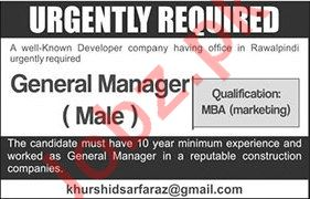 General Manager Jobs in Developer Company