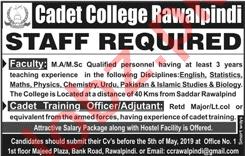Cadet College Jobs in Rawalpindi