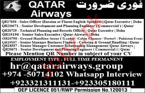 Qatar Airways Sales Staff Jobs 2019