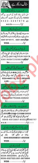 Daily Khabrain Newspaper Classified Jobs For Islamabad