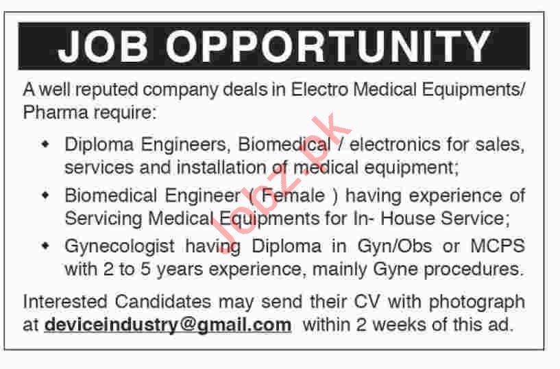 Technical & Medical Jobs 2019 in Karachi