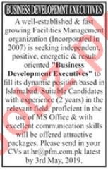 Business Development Executives Jobs 2019 in Islamabad