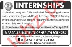 Margalla Institute of Health Sciences Internship Program