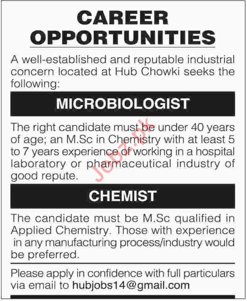 microbiologist  u0026 chemist jobs 2019 in karachi 2019 job