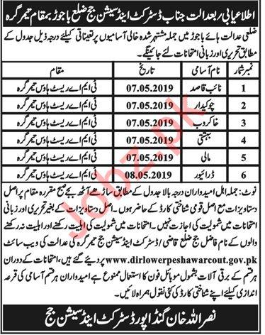 District & Session Judge Office Bajaur KPK Jobs 2019