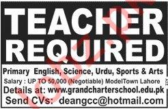 Grand Charter School Teaching Jobs 2019 in Lahore