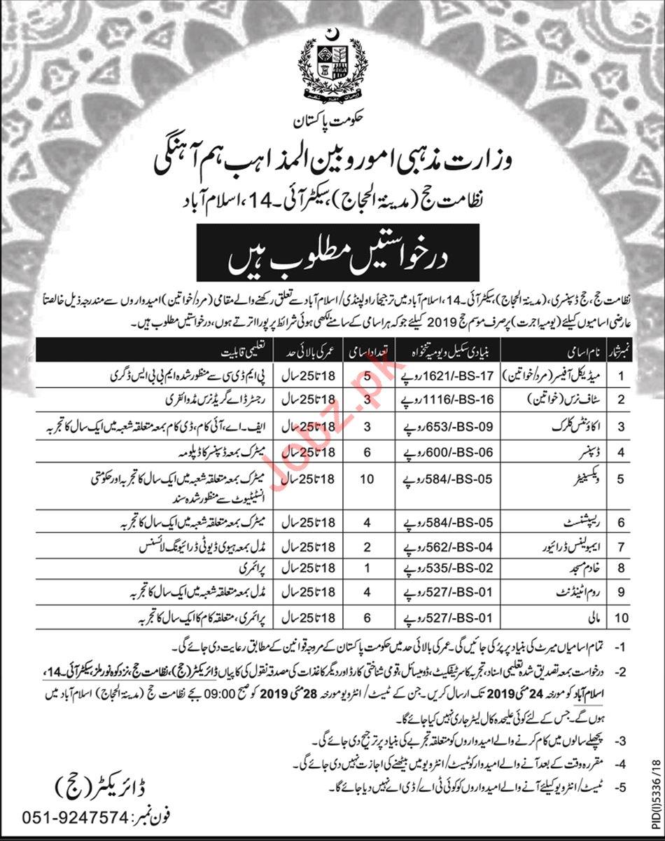 Ministry of Religious Affairs & Interfaith Harmoney Jobs