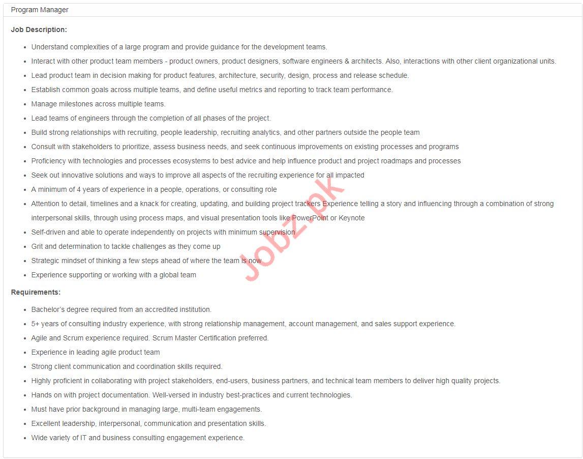 Program Manager Jobs in  Bykea