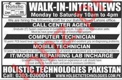 Holistic Technologies Pakistan Jobs 2019 for Technicians