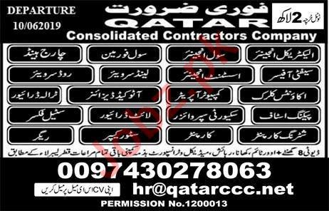 Rigger & Engineers Jobs 2019 in Qatar 2019 Job Advertisement