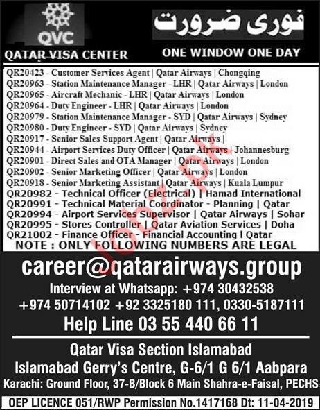 Qatar Visa Center Jobs 2019