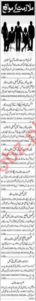 Daily Dunya Miscellaneous Staff Jobs 2019 in Islamabad