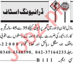 Driving Jobs 2019 For House In Lahore