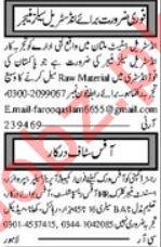 Daily Khabrain Miscellaneous Staff Jobs 2019 in Multan
