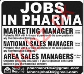 Pharma Company Marketing Manager Jobs 2019