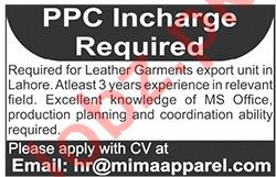 Mima Apparel Lahore Jobs for PPC Incharge