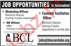 Biocare Labs Islamabad Jobs 2019 for Marketing Officer