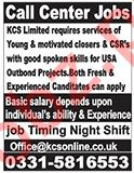 KCS Limited Lahore Jobs for Call Center Staff