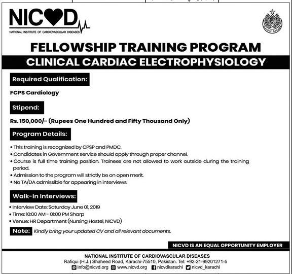 NICVD Fellowship Training Program 2019