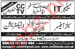 Managers & Technicians Jobs 2019 in Lahore