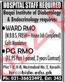 Baqai Institute of Diabetology & Endocrinology BIDE Jobs