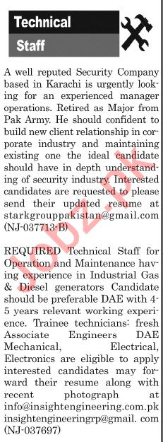 The News Sunday Classified Ads 19th May 2019 for Technical