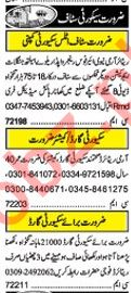 Khabrain Sunday Classified Ads 19th May 2019 for Security
