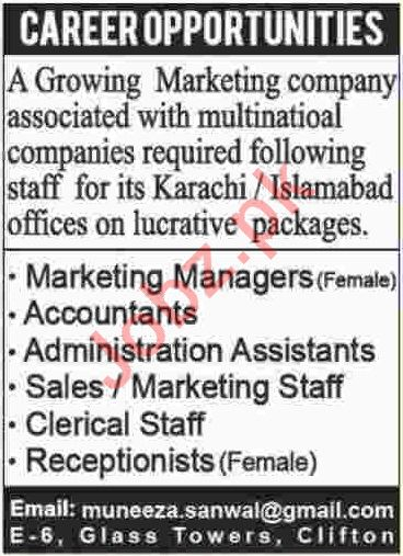 Marketing Manager & Accountant Jobs 2019
