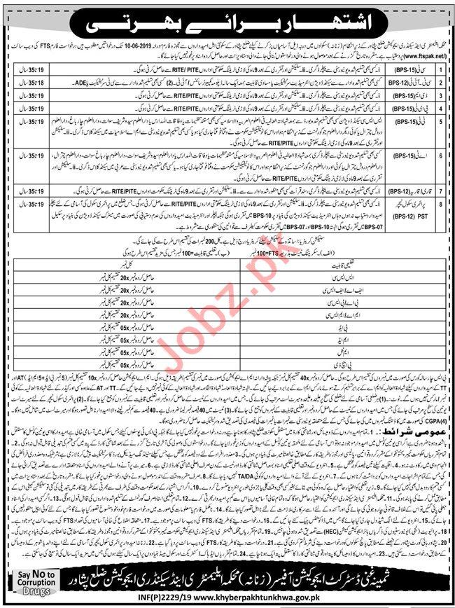 Elementary & Secondary Education Jobs in Peshawar via FTS