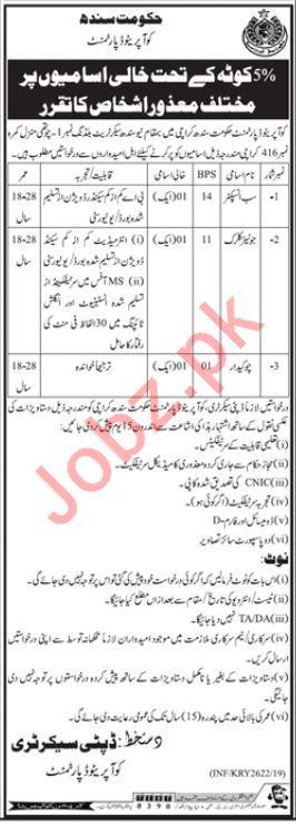 Cooperative Department Jobs 2019 For Karachi