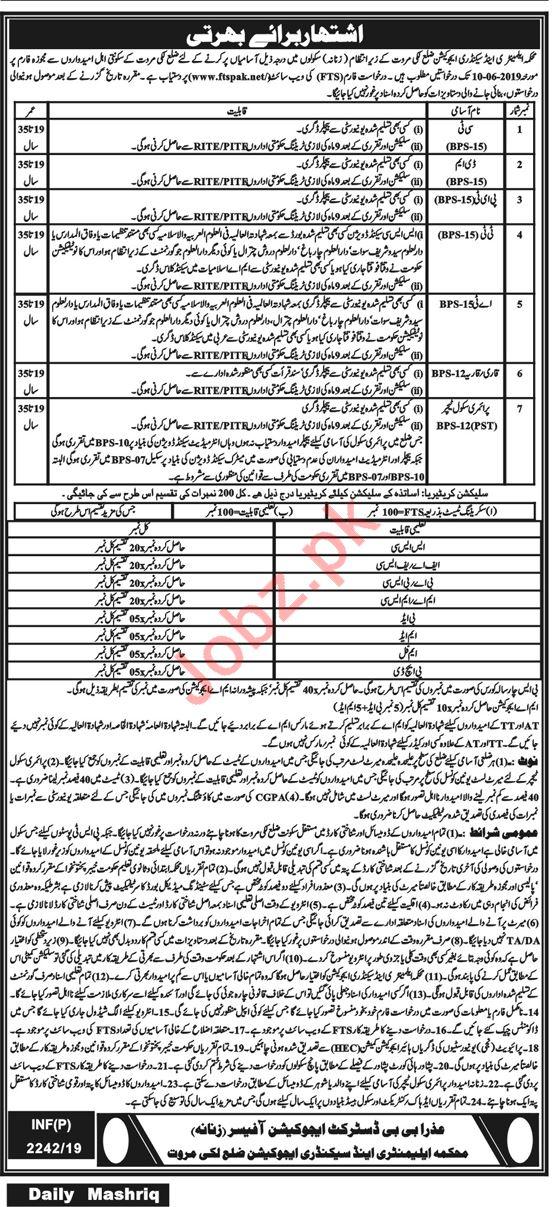 Elementary & Secondary Education Jobs in Lakki Marwat