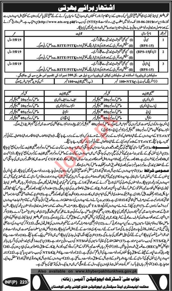 Elementary & Secondary Education Jobs in Kohistan