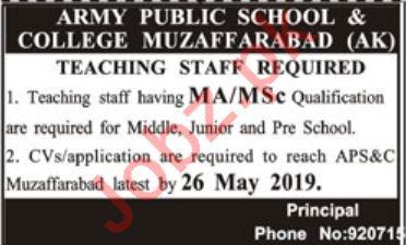 Army Public School & College APS&C AJK Jobs 2019