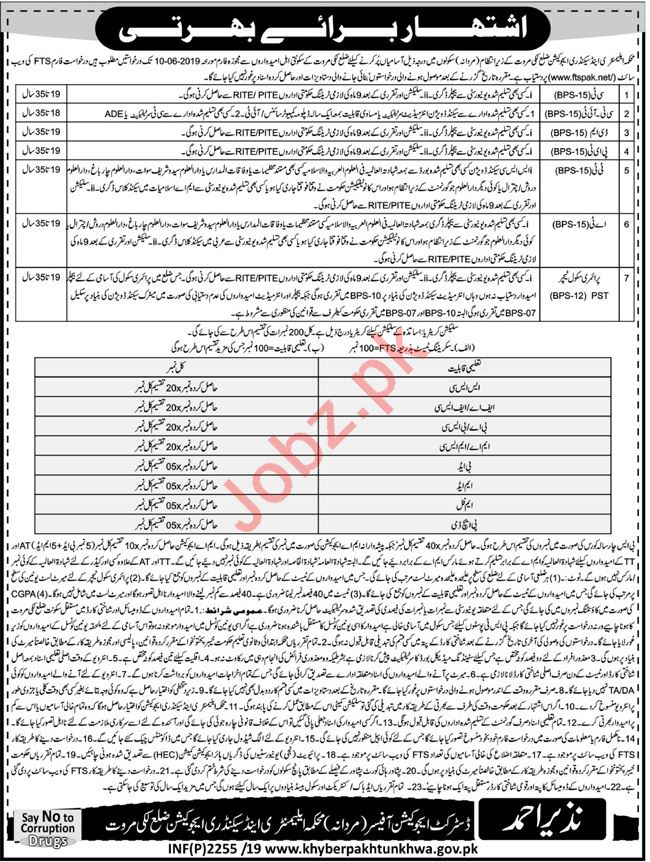Elementary & Secondary Education Department Jobs via FTS