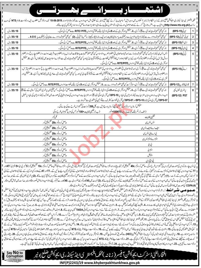 Elementary & Secondary Education Jobs in Buner via NTS